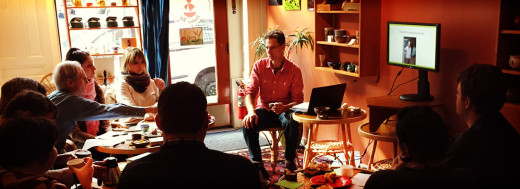 Tea class in our new space - photos, tastings and discussion.