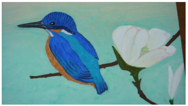A Kingfisher and Dogwoods