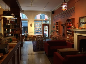 Front interior of tearoom